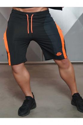 Anax Shorts Black with Orange, XL