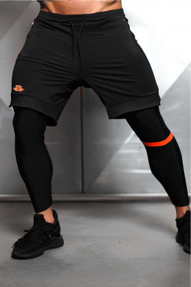 Demon Performance Bottom Black & Orange, L